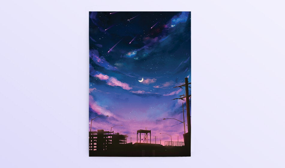 Postcard: Dusk - Sugarmints Artstore