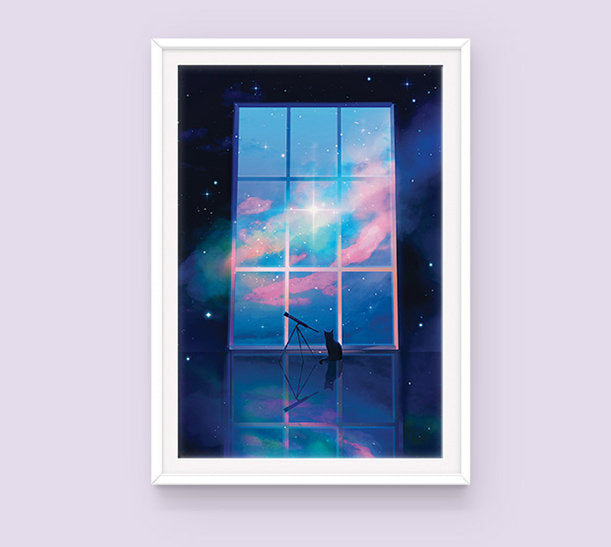 Poster: Cat in Space - Sugarmints Artstore