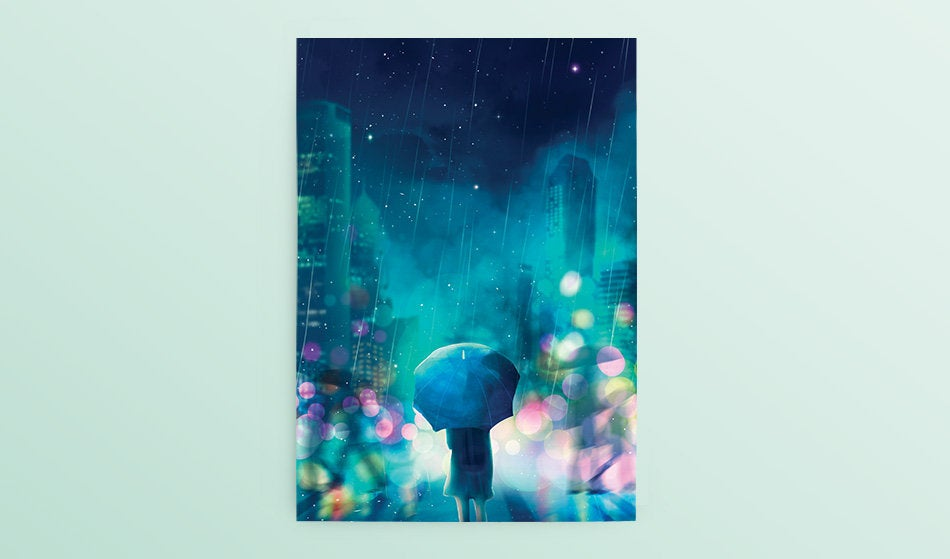 Postcard: Rain - Sugarmints Artstore