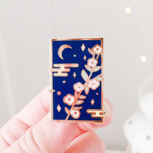 Load image into Gallery viewer, Moon Flower Enamel Pins - Sugarmints Artstore
