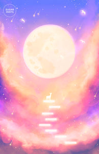 Postcard: Moon Wish - Sugarmints Artstore