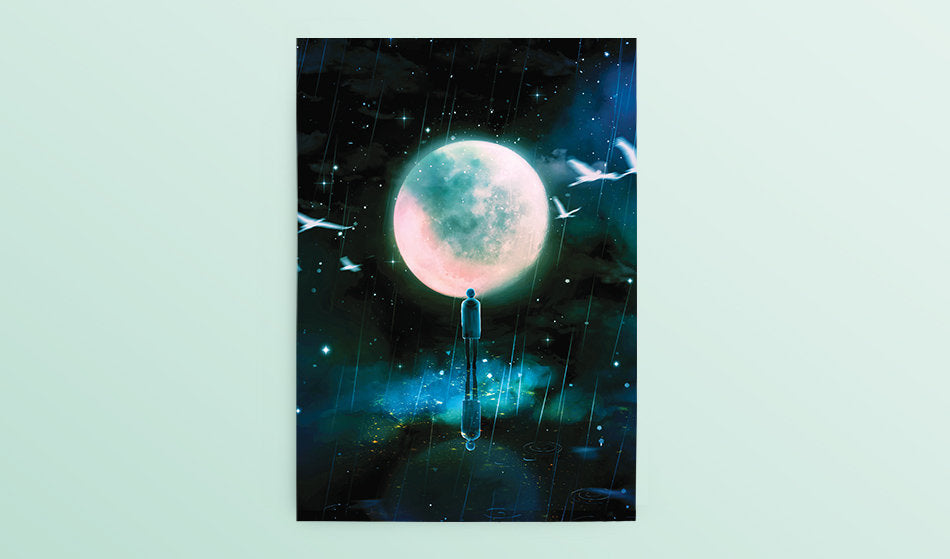 Postcard: Mono Rain (Namjoon) - Sugarmints Artstore