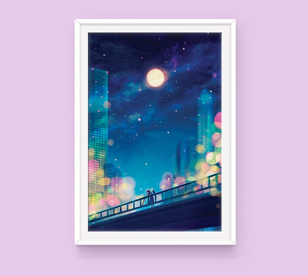 Poster: Friday Night Vibes - Sugarmints Artstore