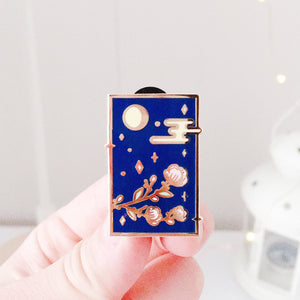 Moon Flower Enamel Pins - Sugarmints Artstore