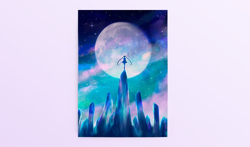 Postcard: Moon Crystals - Sugarmints Artstore