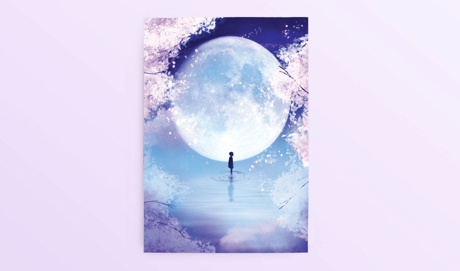 Postcard: Moon Child - Sugarmints Artstore