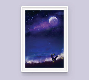 Pokemon Eeveelutions Poster Set - Sugarmints Artstore