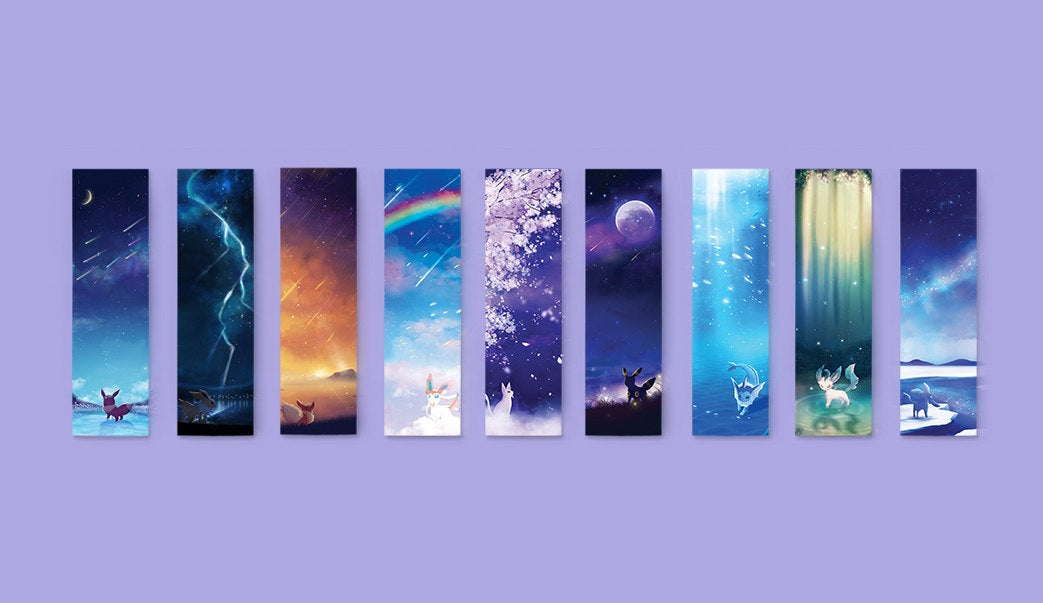 Pokemon Eeveelutions Bookmark Set - Sugarmints Artstore