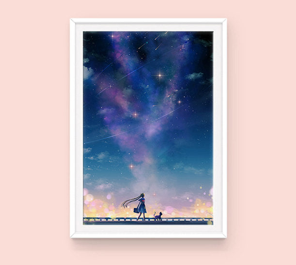 Poster: Sailor Moon & Luna - Sugarmints Artstore