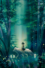 Load image into Gallery viewer, Postcard: Princess Mononoke - Sugarmints Artstore