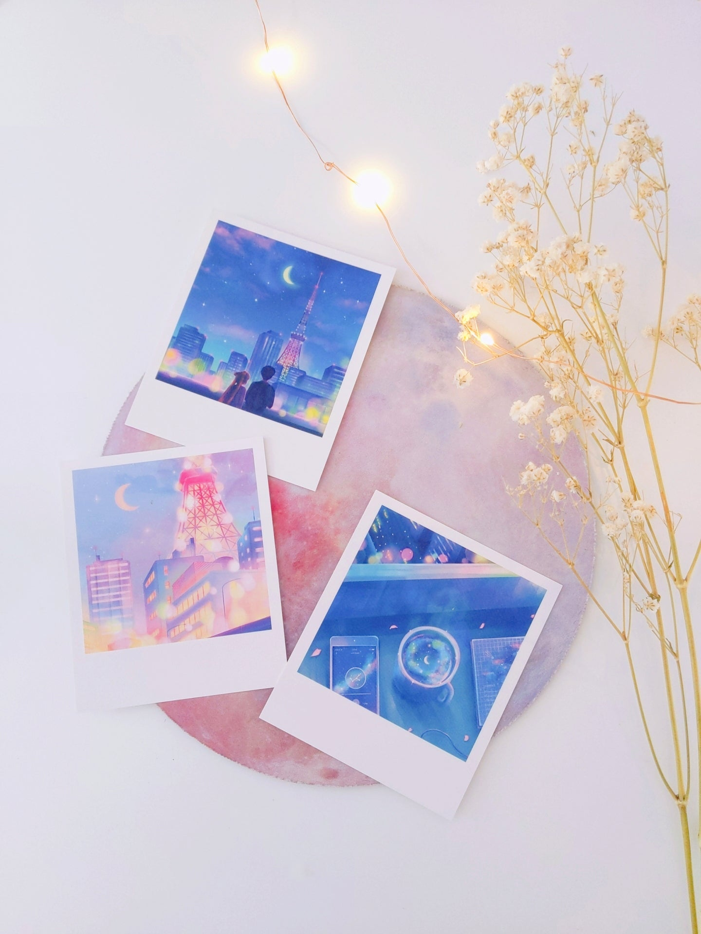 Sailor Moon Polaroid Set - Sugarmints Artstore
