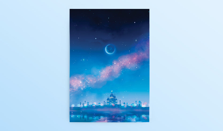 Postcard: Moon Castle - Sugarmints Artstore