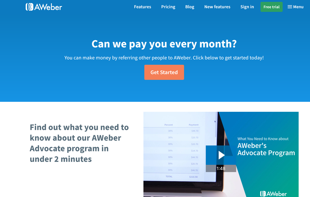 Affiliate Marketing With AWeber