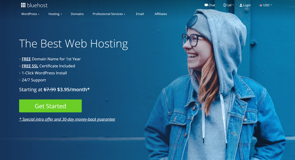Host WordPress with Bluehost