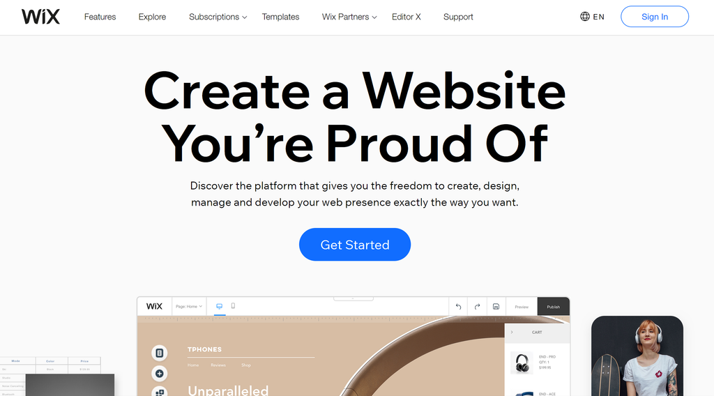 Website Builder With WIX