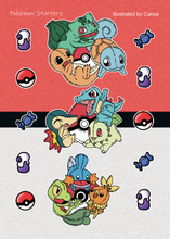 Load image into Gallery viewer, Pokemon Sticker Sheet