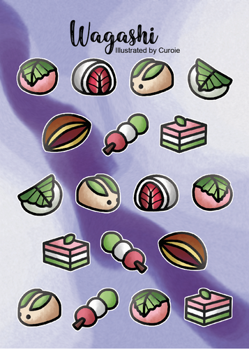 Wagashi Sticker Sheet