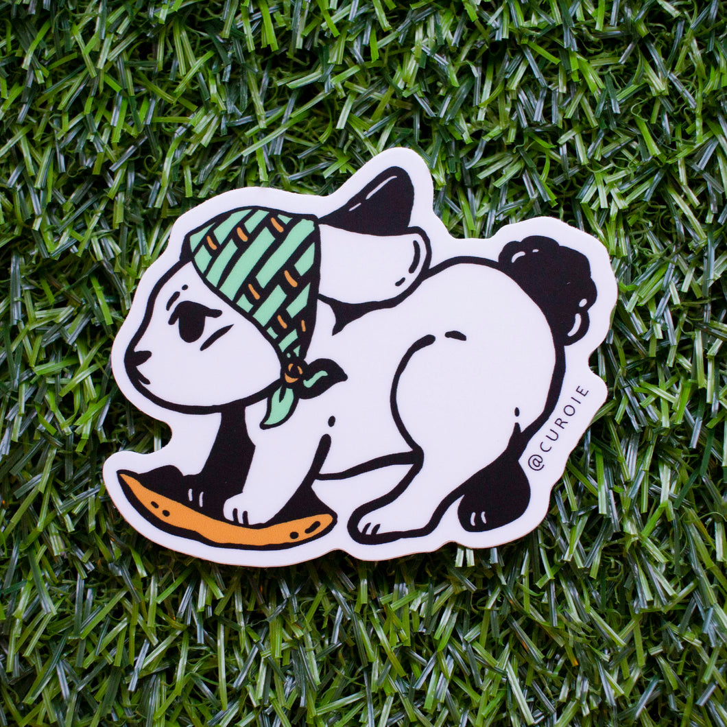 Cleaning Bunny Vinyl Sticker