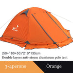 Flytop camping tent outdoor 2 people or 3 perons double layer aluminum