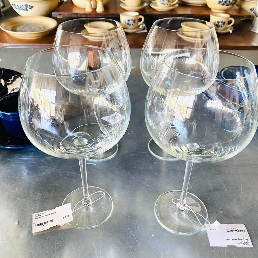 Burgundy Wine Glasses - Each