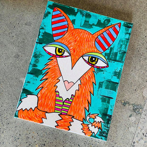 Original Fox by Local Portland Artist