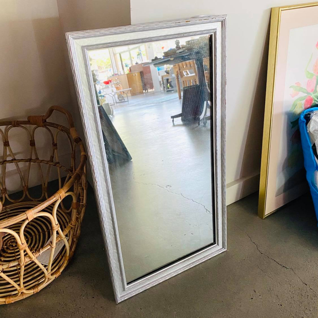 Silver Framed Rectangle Mirror