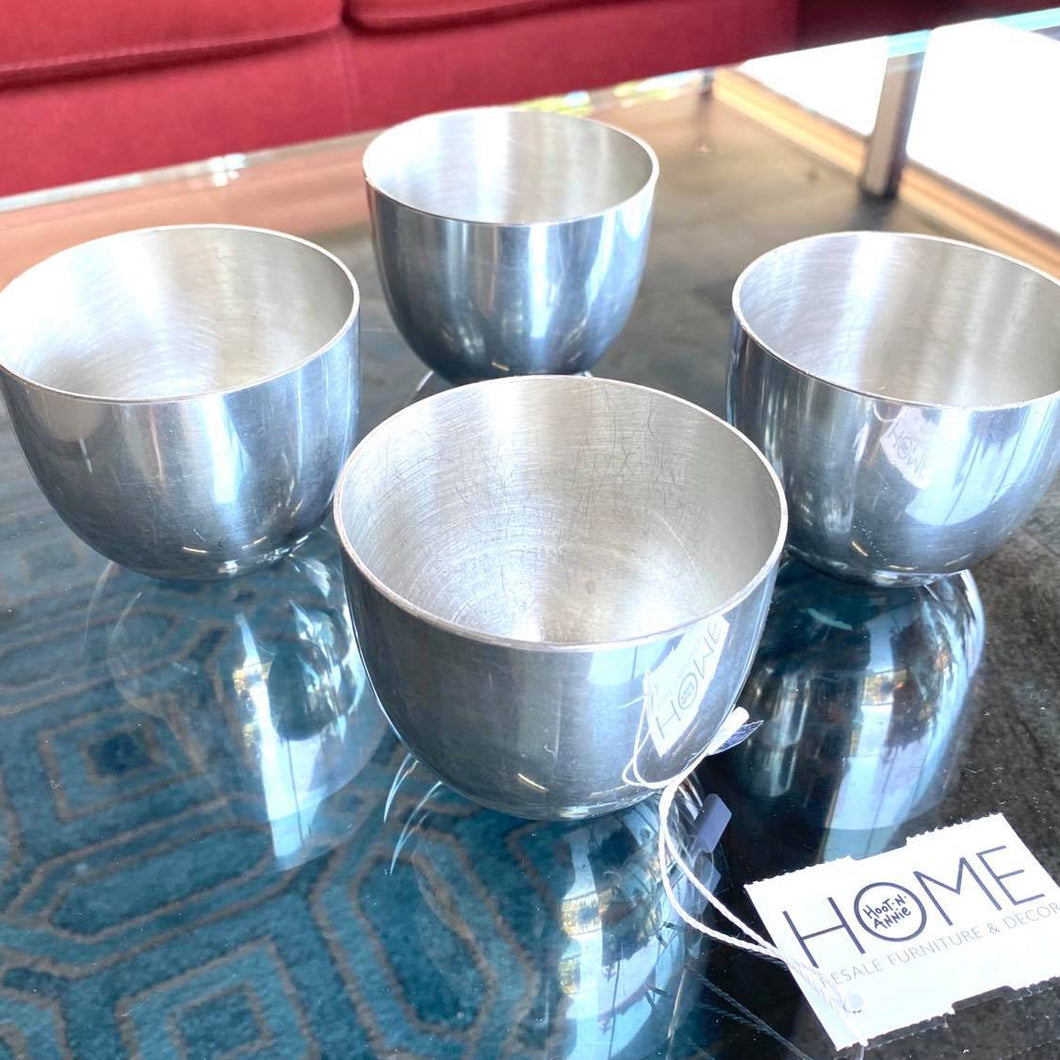 Set of 4 Kirk Stieff Pewter Cups