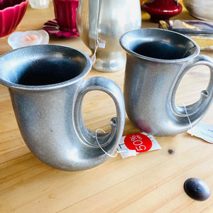 Wilton Armetale Pewter Plough Tavern Horn Mug - Each