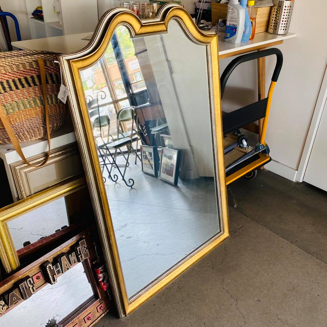Large Gold and Silver Framed Mirror