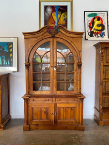 Italian Carved European Pine Trophy Case
