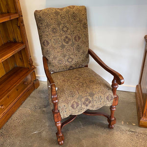 High Back Wooden Upholstered Chair