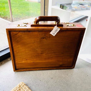 Bridled Joinery Solid Wood Briefcase Latch Box