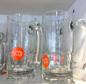 34oz Large Glass Beer Mug/Each