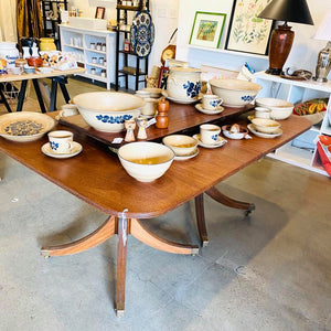 1920's Solid Mahogany Extendable Dining Table