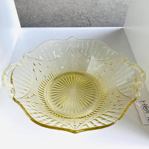 Vintage Yellow Glass Dish