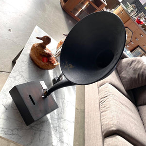 Restoration Hardware Walnut Gramophone