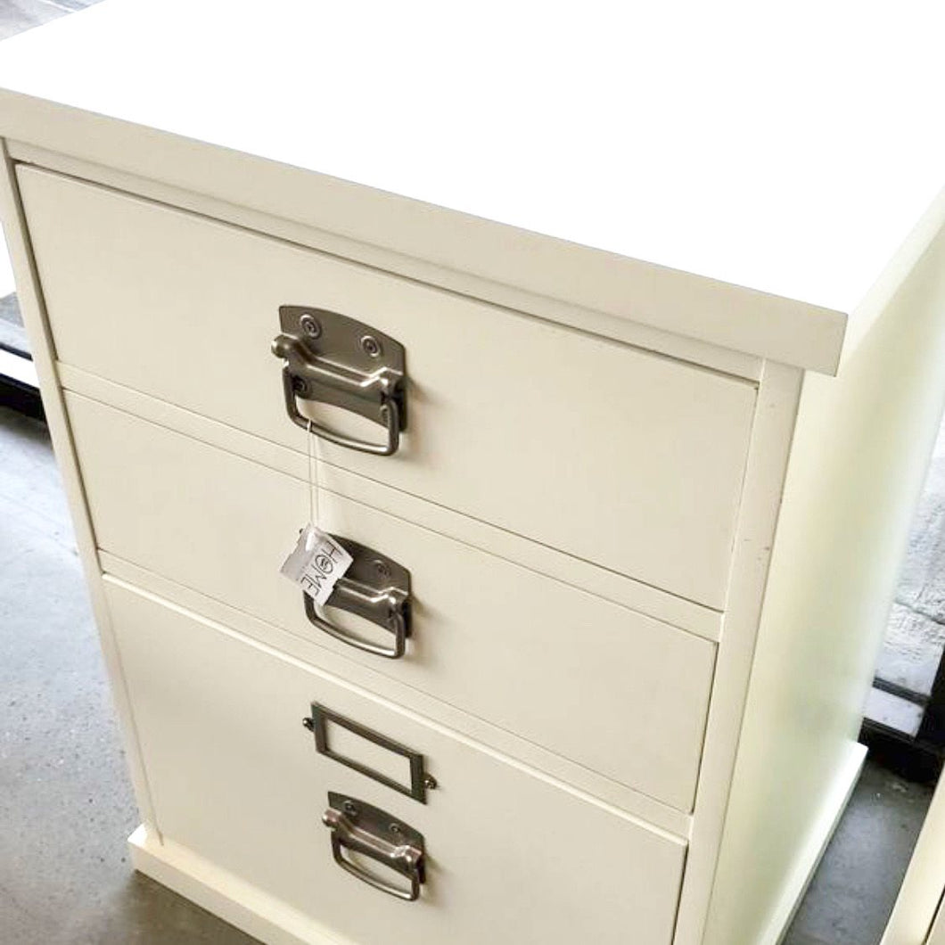 Pottery Barn White File Cabinet *retail $350
