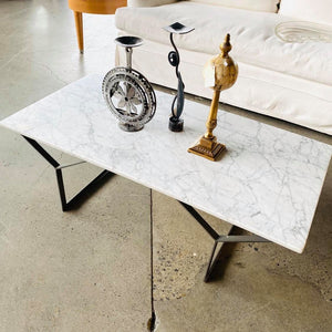 West Elm Marble Top Coffee Table *retail $500