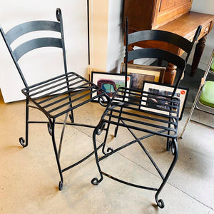 Iron Indoor/Outdoor Bar Height Chairs (no cushion) - Each