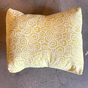 Down Light Green Pillow With Swirl Design
