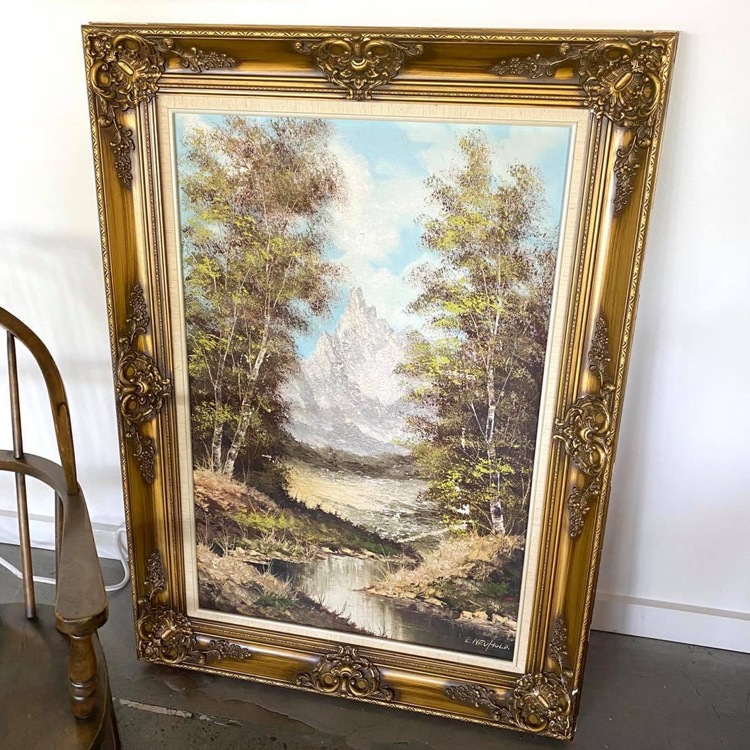 Original  E. Neuhold Signed Oil Painting
