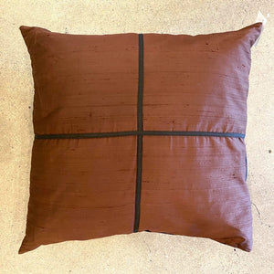 Silky Brown And Black Pillow