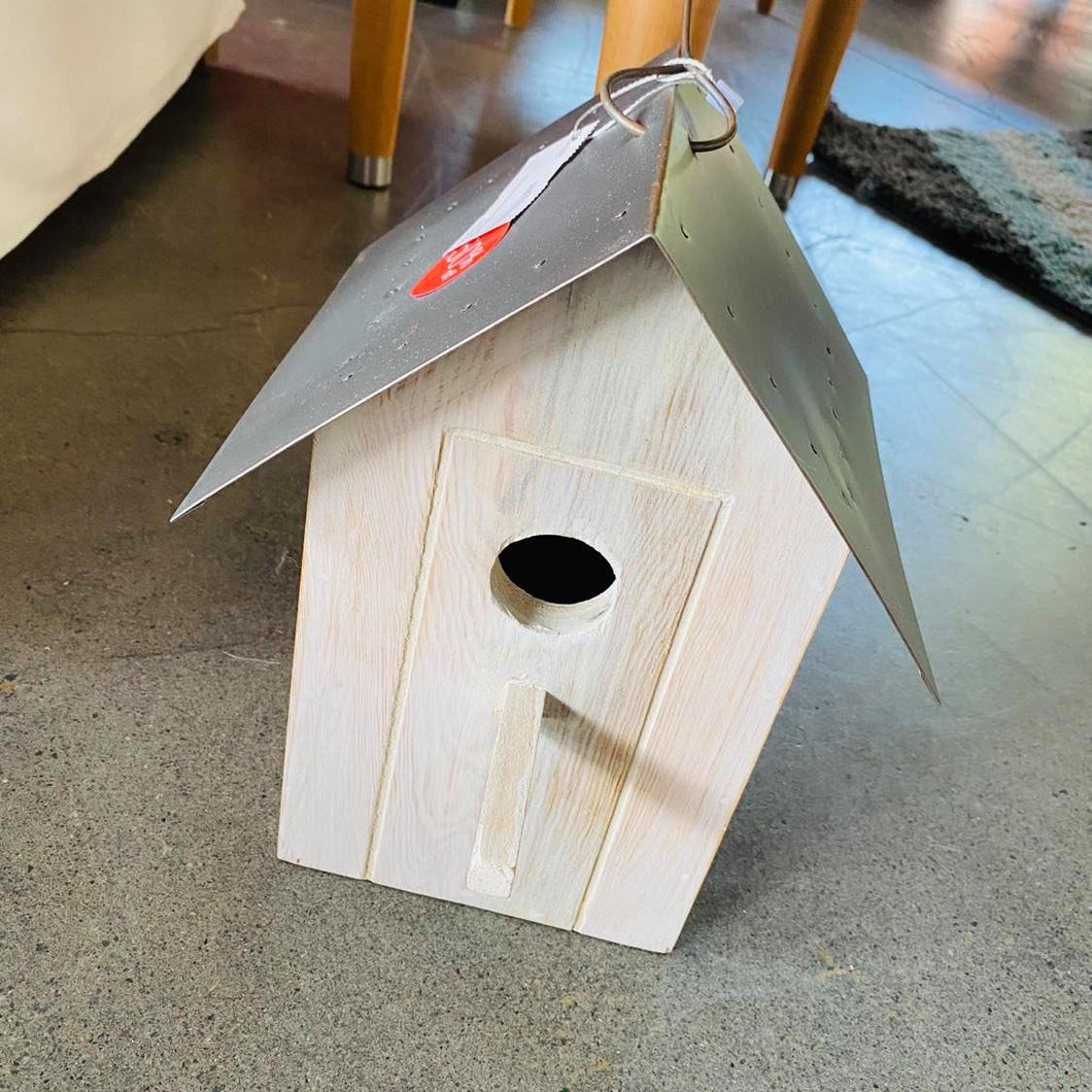 Bird House with Tin Roof
