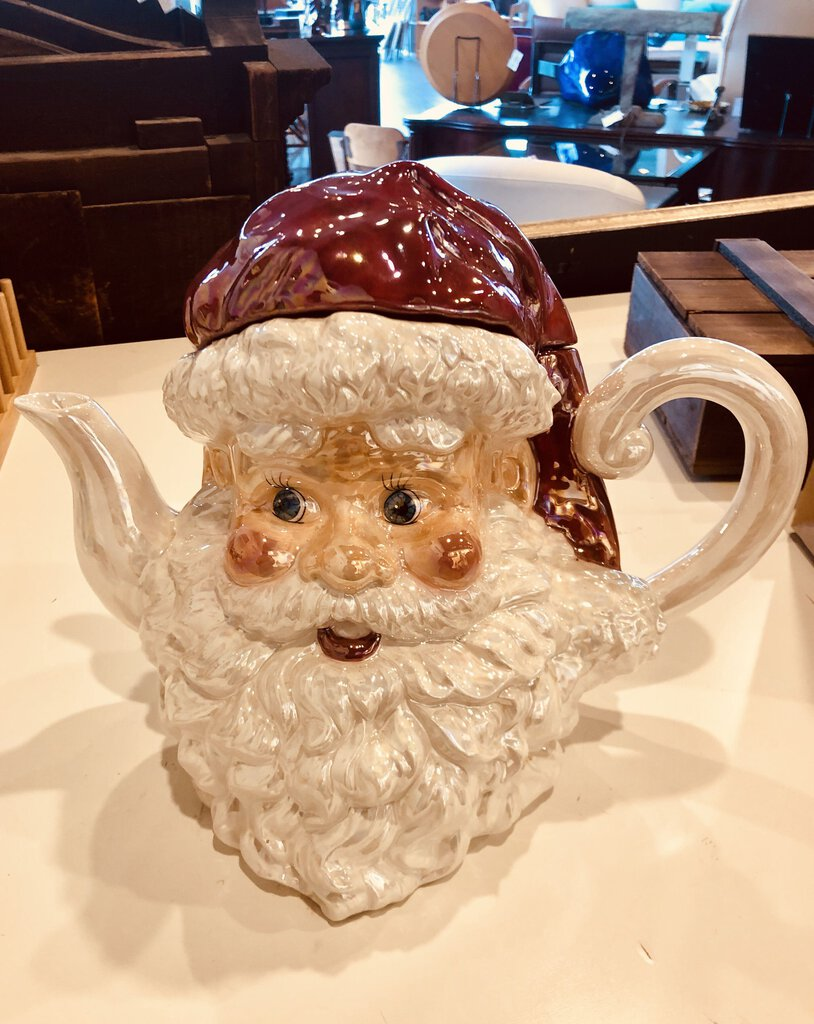 Porcelain Santa Tea Pot