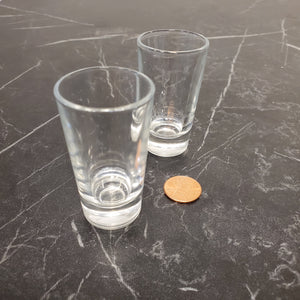 Set of 2 One Ounce Shot Glasses