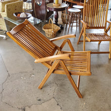 Load image into Gallery viewer, Teak Reclining Folding Chair- EACH