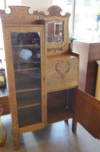 Load image into Gallery viewer, Antique Locking Secretary Desk w/ Display Cabinet