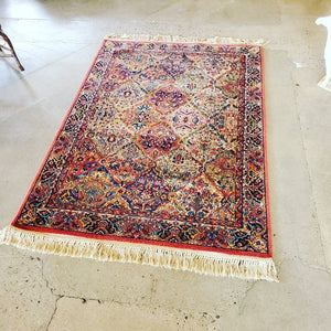 Karastan Multicolor Panel Kirman Discontinued Patter Wool Rug