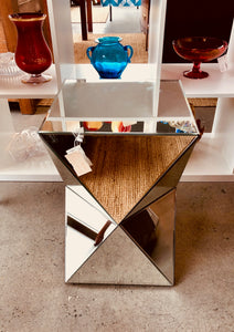 Pier 1 Geometric Mirrored End Table