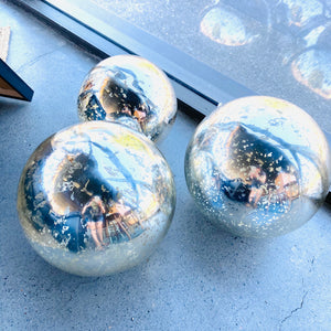 Silver Mirrored Light Up Spheres